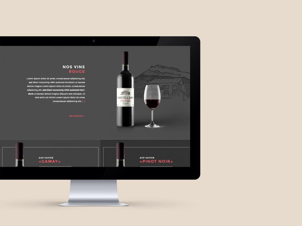création site internet domaine viticole Savoie