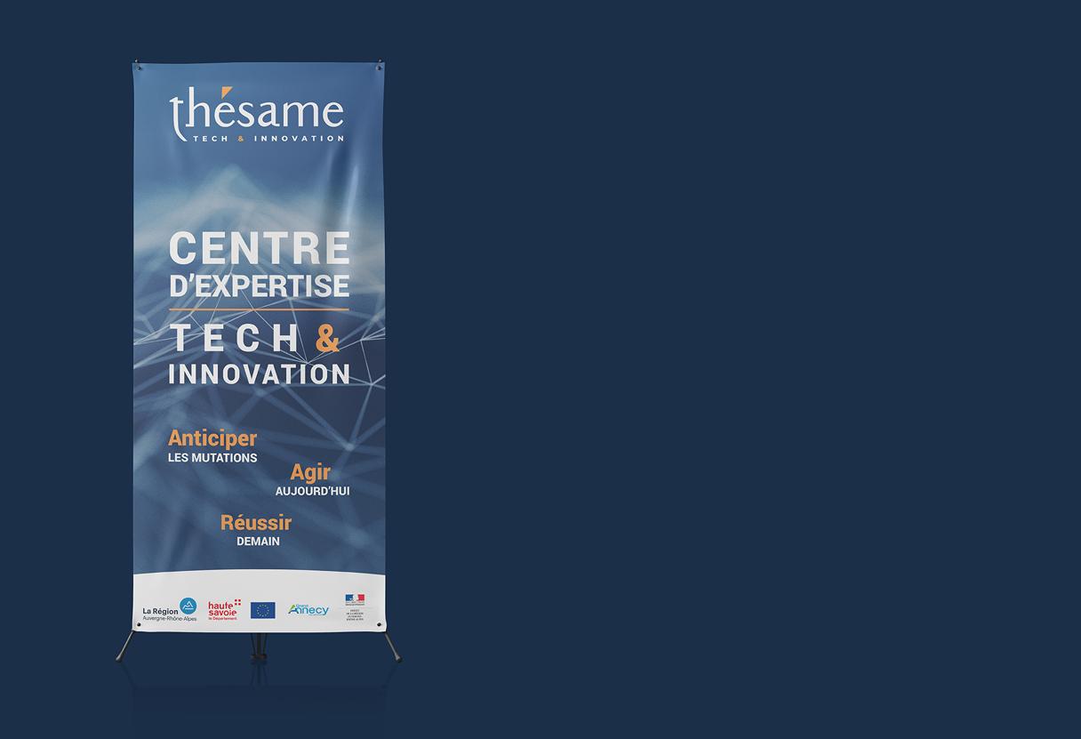 Création roll-up Thésame à Chambéry