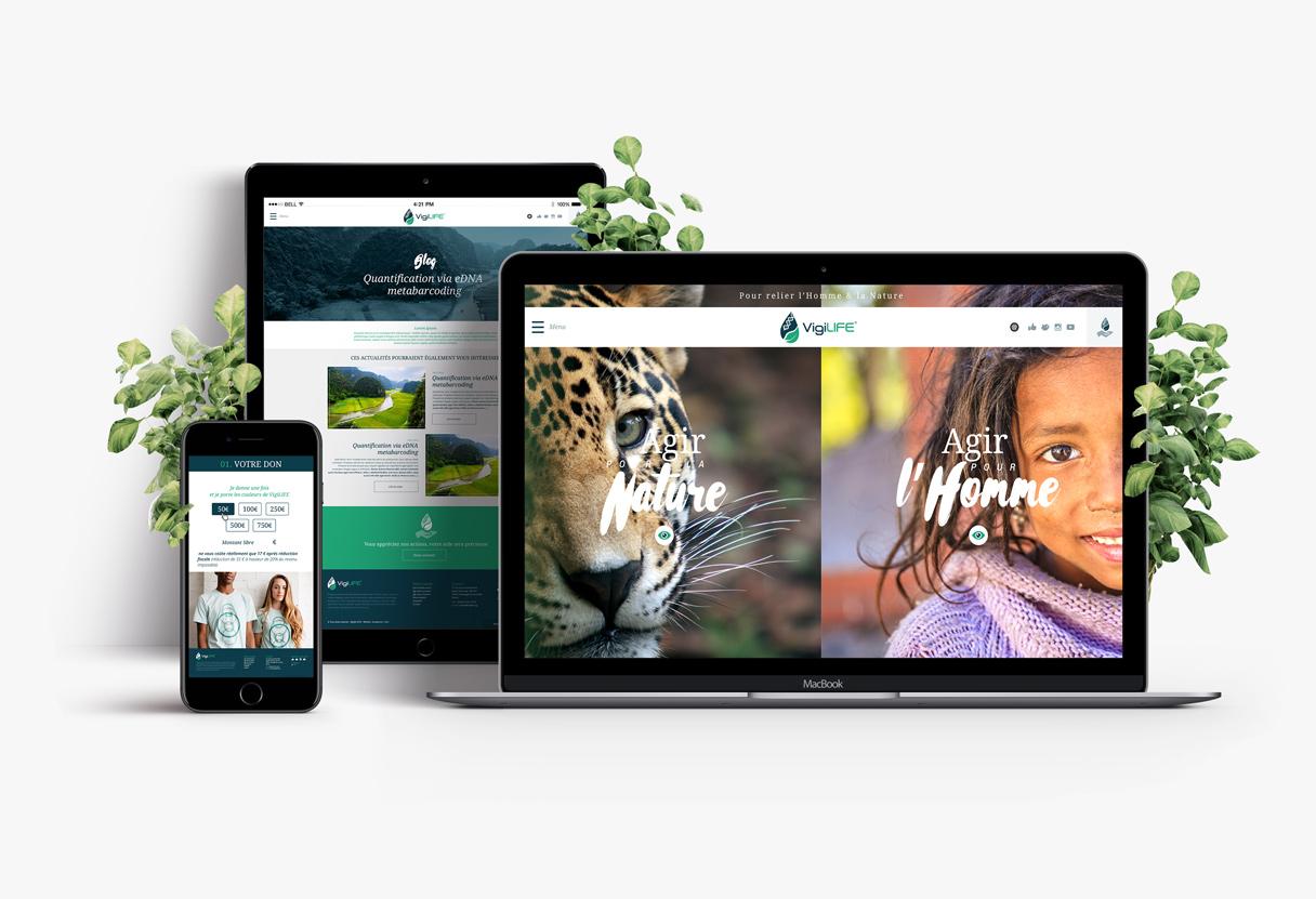 Site internet responsive vigilife en Savoie