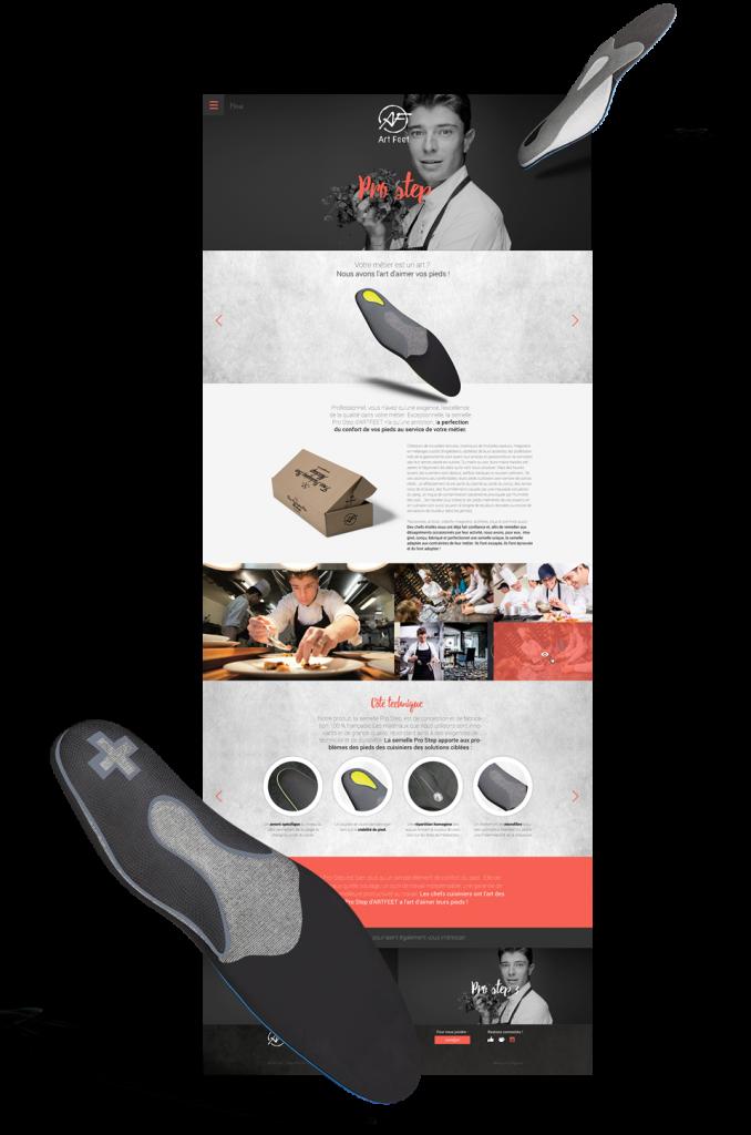 Here We Com a accompagné Art Feet dans la création de son site internet en lui proposant une identité de marque créative et originale.
