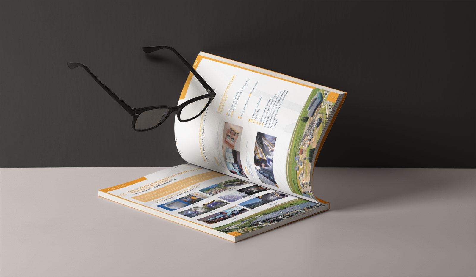 Réalisation graphique de catalogue en Savoie